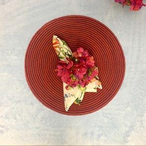 Set (4)hydrangea napkin ring
